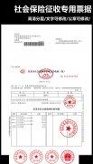 社会保险费征收专用票据模版