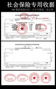 社会保险专用收款票据模版