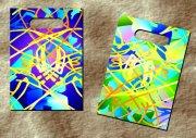 七彩線條紋-膠袋設計