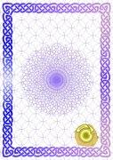 紫罗兰 金牌证书纹