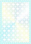 蓝色幸运草-证件纹