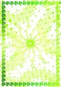 芳菲绿叶子-许可证书纹