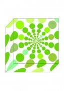 绿色圆点盒子