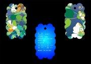 冰蓝花卉-吊牌设计