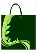 綠葉飄帶袋子