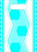 藍色六角形手袋
