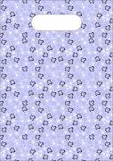 紫花白花手袋