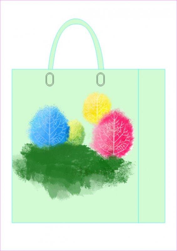 水墨樹袋子