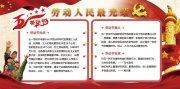 中国风五一劳动节红色小报展板