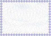 紫罗兰 认证书底纹